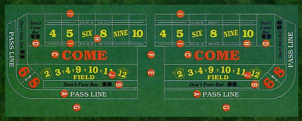 Craps Field Numbers